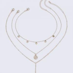 Gina Tricot Gold Look Coin Choker Multirow Kaulakoru