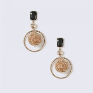 Gina Tricot Gold Look Fabric Ball Drop Earring Korvakorut