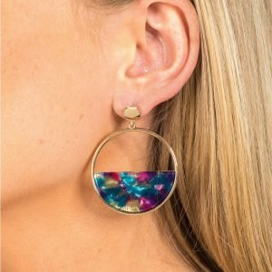 Gina Tricot Gold Look Half Circle Earrings Korvakorut