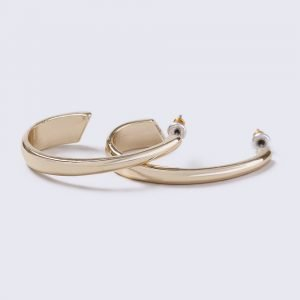 Gina Tricot Gold Look Half Hoop Earrings Korvakorut