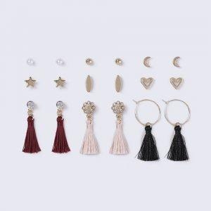 Gina Tricot Gold Look Heart Multipack Earrings Korvakorut