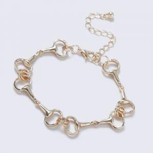Gina Tricot Gold Look Horsebit Link Wristwear Rannekoru
