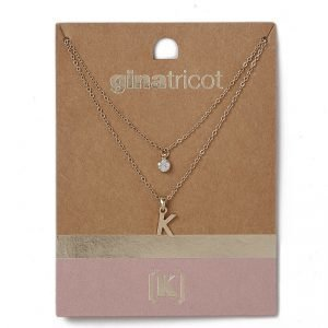 Gina Tricot Gold Look K Initial Ditsy Necklace Kaulakoru
