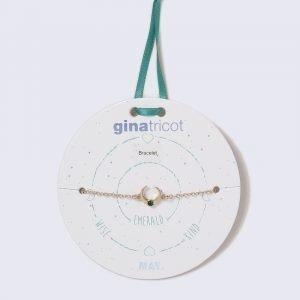 Gina Tricot Gold Look May Emerald Birthstone Wristwear Rannekoru