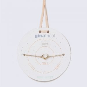 Gina Tricot Gold Look November Topaz Birthstone Wristwear Rannekoru
