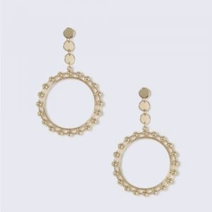 Gina Tricot Gold Look Open Circle Drop Earring Korvakorut