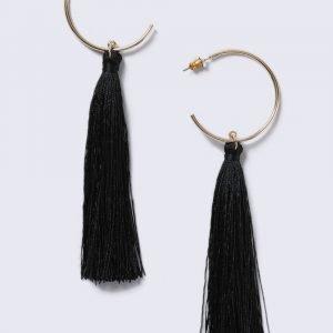 Gina Tricot Gold Look Tassel Hoop Earrings Korvakorut