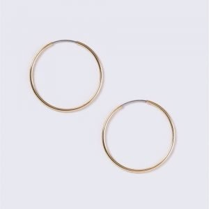 Gina Tricot Gold Plated Medium Thin Hoop Earrings Korvakorut
