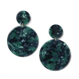 Gina Tricot Green Look Double Disk Earrings Korvakorut