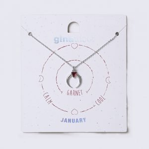 Gina Tricot January Red Birthstone Necklace Kaulakoru