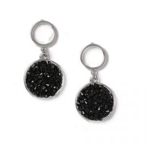 Gina Tricot Jet Stone Drop Earrings Korvakorut