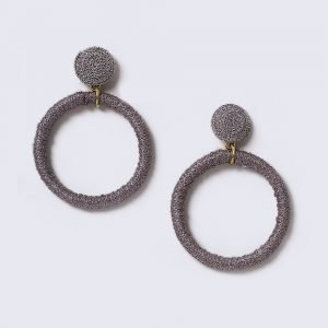 Gina Tricot Lilac Fabric Wrap Hoop Earrings Korvakorut
