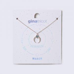 Gina Tricot March Turquoise Birthstone Necklace Kaulakoru
