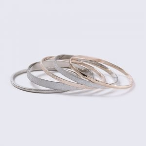 Gina Tricot Mixed Metal Bangle Pack Rannekoru