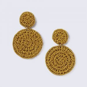 Gina Tricot Mustard Beaded Drop Earring Korvakorut