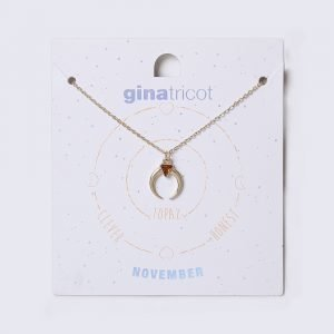 Gina Tricot November Topaz Birthstone Necklace Kaulakoru
