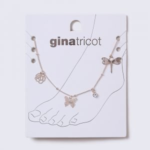 Gina Tricot Pretty Charm Rose Gold Anklet Nilkkakoru