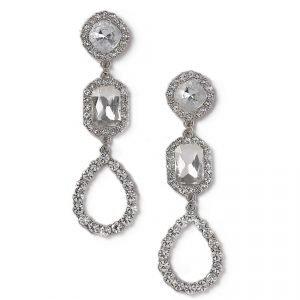 Gina Tricot Rhinestone Statement Drop Earrings Korvakorut