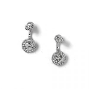 Gina Tricot Rhodium Rhinestone Stud Earrings Korvakorut