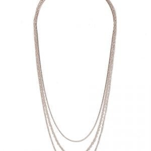 Gina Tricot Rose Gold Layered Necklace Kaulakoru
