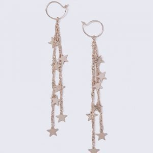 Gina Tricot Rose Gold Look Star Drop Earrings Korvakorut