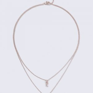 Gina Tricot Rose Gold Padlock Necklace Kaulakoru