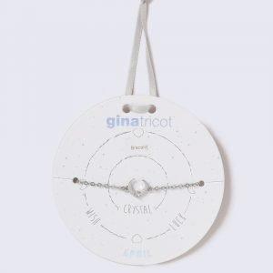 Gina Tricot Silver Look April Crystal Birthstone Wristwear Rannekoru