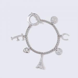 Gina Tricot Silver Look Charm Equestrian Wristwear Rannekoru