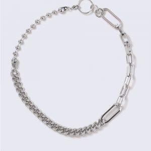 Gina Tricot Silver Look Circle Link Heavy Chain Kaulakoru