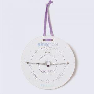 Gina Tricot Silver Look February Purple Birthstone Wristwear Rannekoru