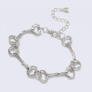 Gina Tricot Silver Look Horsebit Link Wristwear Rannekoru