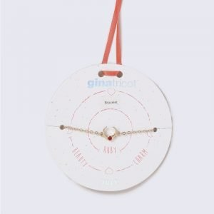 Gina Tricot Silver Look January Red Birthstone Wristwear Rannekoru