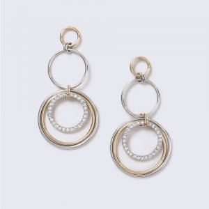 Gina Tricot Statement Mixed Metal Link Earrings Korvakorut