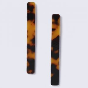 Gina Tricot Tortoiseshell Stick Earrings Korvakorut