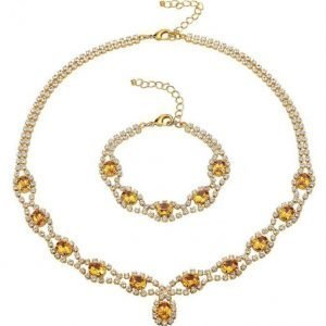 Golden Style 2-Osainen Setti Keltainen