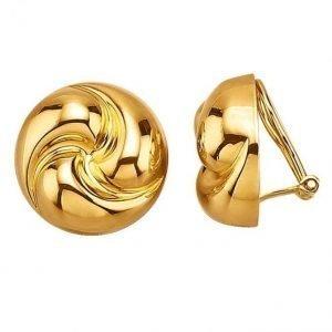Golden Style Klipsikorvakorut Kullanvärinen