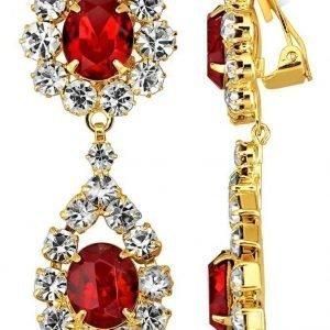Golden Style Klipsikorvakorut Punainen