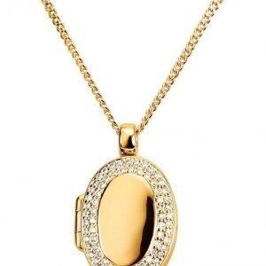 Golden Style Medaljonki Ja Ketju Keltainen