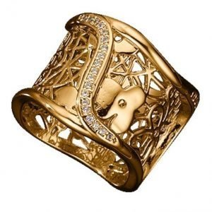 Golden Style Naisten Sormus Kullanvärinen