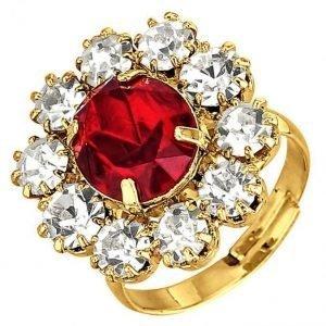 Golden Style Naisten Sormus Punainen