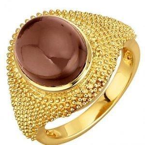 Golden Style Naisten Sormus Ruskea