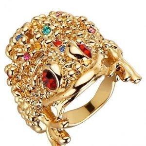 Golden Style Sammakkosormus Roosa
