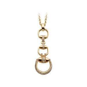 Gucci Horsebit Beverly Kaulakoru Kulta / Timantteja