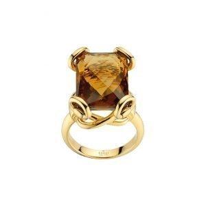 Gucci Horsebit Cocktail Sormus Kulta / Sininen Topaasi