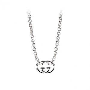 ... Gucci Silver Britt Kaulakoru Riipuksella Gg Hopea45 Cm 428e7bf1f7