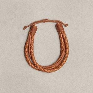 Jack & Jones Jacpeter Bracelet Rannekoru Vaaleanruskea