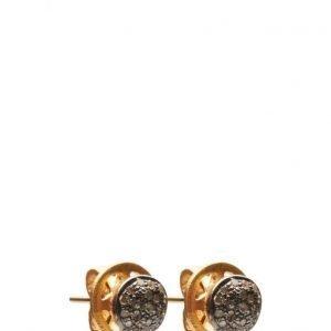 Jewlscph Earrings Black Globes korvakorut