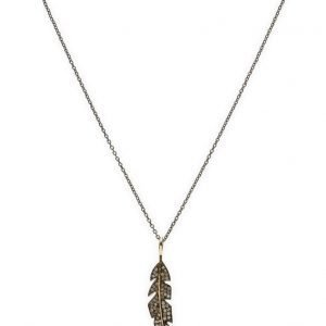 Jewlscph Necklace Feather kaulakoru