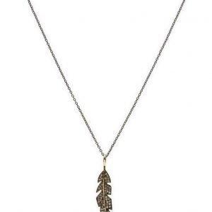 Jewlscph Necklace Feather kaulakoru