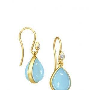 Julie Sandlau Aurora Earring Gold/Blue korvakorut